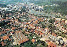 DOMBASLE-SUR-MEURTHE vue aérienne le port et les usines solvay