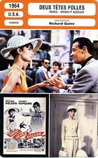 Fiche Cinéma. Movie Card. Deux têtes folles/ Paris-when it sizzles (USA) 1964