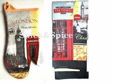 LONDON TEA TOWEL AND OVAN MITT GLOVES BRITISH  UK SOUVENIR GIFT