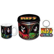 NEW KISS MUG & KEYRING IN A COLLECTIBLE TIN LOGO & MASKS GIFT SET GENE SIMMONS