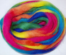 Space Wool, RAINBOW, for wet/needle/dry felting,spinning fibre, roving