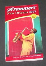 Frommer's New Orleans 2003 Pre Katrina Bayou Cajun Map Anne Rice Garden District