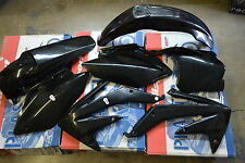 RACE TECH  BLACK PLASTIC KIT HONDA CRF450 CRF450R 2008 SHROUDS PLATES  FENDERS