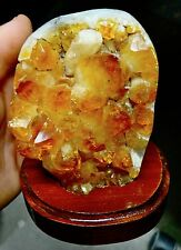 SMALLER  CITRINE CRYSTAL CLUSTER  GEODE FROM BRAZIL CATHEDRAL;
