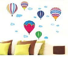 6 Hot air balloons Wall stickers Wall Decal Removable Art Home Mural Deco Kid Au
