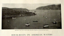 RARE! VINTAGE  HOUSE-BOATS ON AMERICAN WATERS 6 PAGE ARTICLE WITH PHOTOS SF BAY