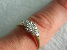 9ct Yellow Gold 1/4 carat 25pt Diamond Cluster Ring sz O