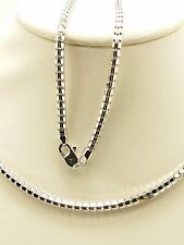 18k Solid White Gold Polished Snake Necklace/ Chain 9.25 Grams