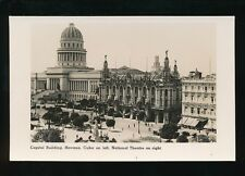 Caribbean Cuba HAVANA Capitol National Theatre Cunard Liners c1920/30s? RP PPC