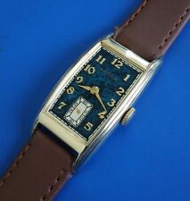 Exquisite Vintage 1940 Mans HAMILTON Yorktown, Curved Case, 1 Year Warranty