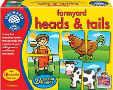 Orchard Toys FARMYARD HEADS & TAILS Kids/Children's Fun First Matching Game BN