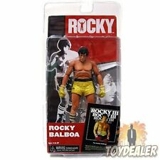 ROCKY BALBOA SYLVESTER STALLONE GOLDEN TRUNKS SERIES 3 BOXER ACTION FIGUR NECA