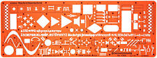 Electrical Electronic Schematic Plan Symbols Drawing Drafting Template Stencil