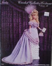 Paradise Crochet Collector Costume Fashion Doll Pattern Debutante Ball Gown #38