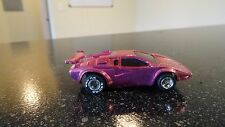 Tyco ho slot car     red chrome  lamborgini