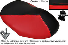 BLACK & RED CUSTOM FITS YAMAHA AEROX YQ 50 100 99-10 FRONT LEATHER SEAT COVER
