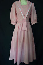 VINTAGE LAURA ASHLEY PINK PINSTRIPE SAILOR DRESS, UK  6, 8 (LABEL 10)