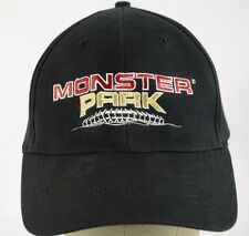 Monster Park Cable Black Baseball Hat Cap Fitted NuFit Stretch Fit L-XL