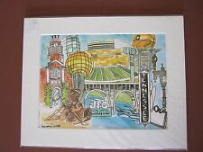 """1 CENT ART! """"Downtown Knoxville"""" Original watercolor print Whimsical Collection"""