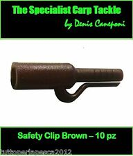 A0243 10 PZ SAFETY CLIP BROWN BOLT RIG CLIP CARPFISHING BOILIES HAIR RIG