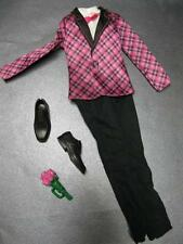 Ken Doll FASHIONISTA CUTIES GROOM Bow Tie shoes TUXEDO clothes-pink plaid