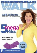 Leslie Sansone Just Walk: 5 Mega Miles with Band DVD NEW