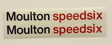 "MOULTON SPEEDSIX  decals/stickers set for ""Moulton Speedsix"" Bike frame"