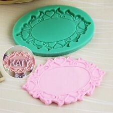 Silicone 3D Mirror Frame Fondant Mould Cake Decorating Chocolate Baking Mold