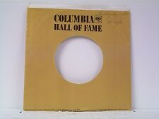 4-COLUMBIA HALL OF FAME COMPANY 45's SLEEVES  LOT # A-724