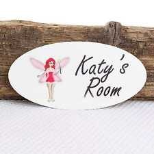 Personalised Door Name Plaque Fairy Girl Boy Bedroom Room Sign