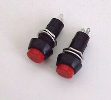 2 Red BBT Brand Heavy Duty12 Volt On/Off Push Button Switches