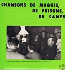 LP FRANCE ROSALIE DUBOIS CHANSONS DE MAQUIS DE PRISONS DE CAMPS