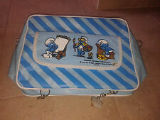 "Amazing  Greek Vintage ""The Smurfs""  school bag, 1980!!New!"