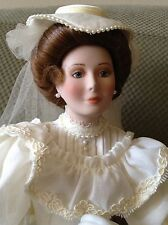Vintage Porcelain Bride Doll, Flora, 1900s Bride-Classic Brides of the Century