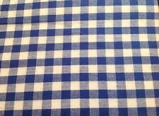 "Blue Gingham Check Tablecloth Cloth  ROUND 180cm (71"") Excellent Quality Cotton"
