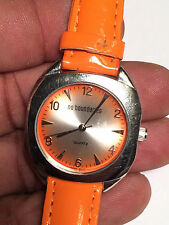 Nice Ladies Orange Band No Boundaries Analog Watch