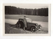 PHOTO ANCIENNE Snapshot Voiture Automobile Auto Peugeot Renault Citroën 1940