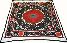 Uzbek Silk Embroidered Suzani Hand Made Embroidery Vintage Style Wall Hanging 42