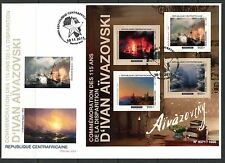 CENTRAL AFRICA 2015  115TH  MEMORIAL IVAN AIVAZOVSKI   PAINTINGS  SHEET   FDC