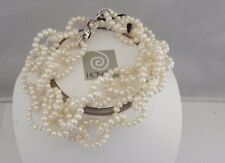 "STUNNING  NEW  HONORA 24"" WHITE  NECKLACE MADE OF 4MM PEARL RINGS  FUN"