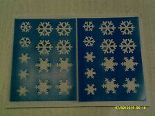2 x Snowflake face paint stencil sheets  reusable many times  Frozen