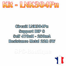 Kit LNK304, Self 470uH - 280mA, Resistance 22 ohms 3W, Support DIP8