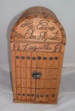 Vintage Wooden La Cava De Don Agustin Tequila Carved Wood Box/house with doors