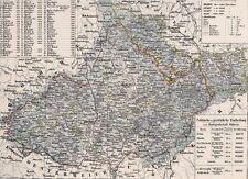 Alte Landkarte MÄHREN Slovenská republika Österreich. Schlesien Austerlitz 1844