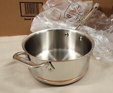 All-Clad Copper Core 3 quart SAUCE PAN w/Lid 3 QT. #: 6203 SS *BRAND NEW*