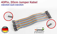 40Pin Jumper Kabel, Pinkabel männlich nach männlich für Arduino Raspberry Pi