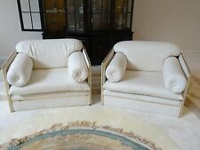 PAIR VINTAGE 24K GOLD PLATED ARCHIUTTI CUBE CLUB CHAIR MADE FOR JACKIE GLEASON