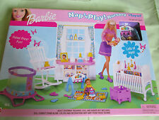 BRAND NEW BARBIE DOLL NAP N PLAY NURSERY PLAYSET 88814 MATTEL 2001