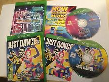 2x XBOX ONE XB1 GAMES NOW THAT'S WHAT I CALL SING MUSIC + JUST DANCE 2016 PAL