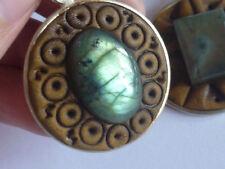 cristalloterapia PENDENTE MONACI TIBET LABRADORITE ciondolo talismano amuleto